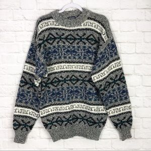 St. Stephen by Madison Blanche Fair Isle Sweater